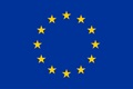 EU Flag with 12 yellow stars