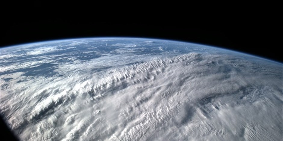 Strom clouds seen from ISS