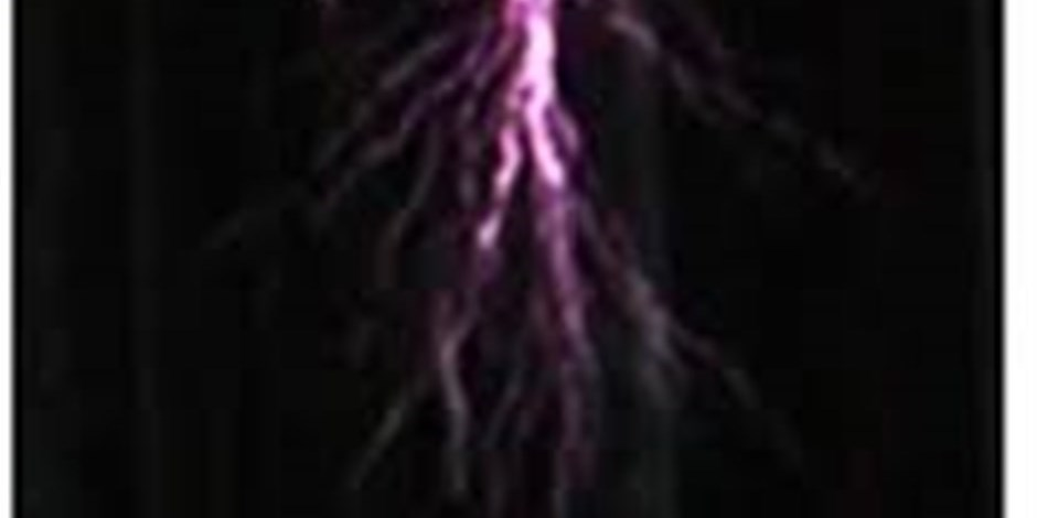 Electrical discharge created in the laboratory
